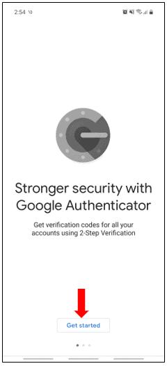تنظیمات Google Authentication