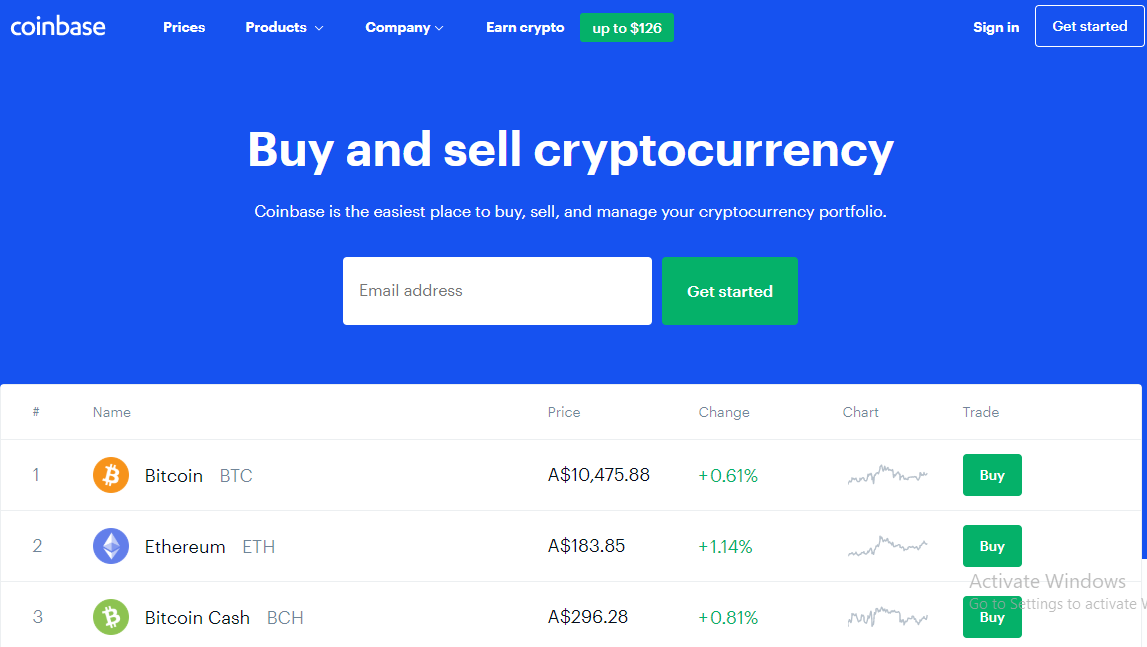 صرافی ارز دیجیتال Coinbase