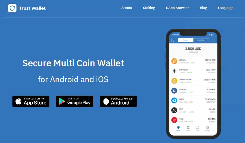 وبسایت رسمی Trust Wallet
