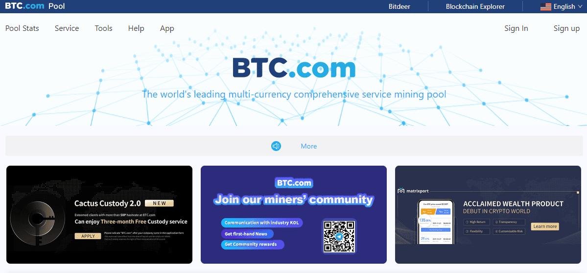 استخر استخراج BTC.com